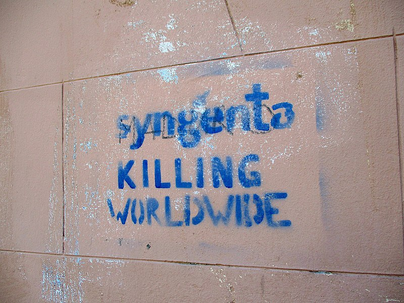 File:'Syngenta kills Worldwide' template graffiti spotted in Basel, Switzerland.jpg