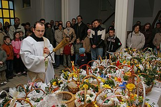 Easter egg - Blessing of Easter foods in Poland