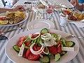 Настоящий греческий салат (деревенский). Тарелка пол метра диаметром. Candia Park Village. Crete. Greece. Июль 2013 - panoramio.jpg