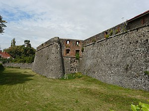 Uzhhorod Castle - The wall of the Hungarian fort.