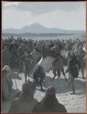 -The Horse-Fight at Hlidarendi. Illustration for Njal's Saga, ch. 59 (August Malmström) - Nationalmuseum - 135375.tif