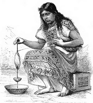 019-A TOLTEC WOMAN SPINNING COTTON.jpg