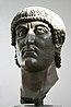 Голова імператора Костянтина — частина римської статуї IV ст. н. е. Капітолійські музеї, Рим, Італія