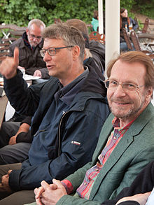 100th Wikipedia regulars table Dresden may 2015.jpg