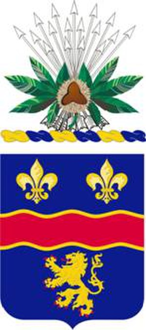 148th Infantry Regiment (United States) - Coat of Arms of the 1st Battalion 148th Infantry Regiment