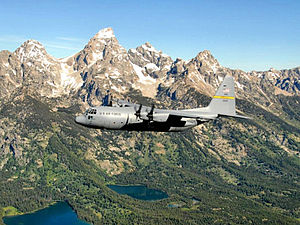 30th Airlift Squadron - 153d Airlift Wing C-130 Hercules over the Rockies