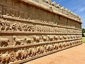15th century Hazara Rama temple outer wall with Maha Ramanavami procession, Hampi Hindu monuments Karnataka.jpg
