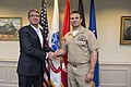 160226-D-SK590-054.JPG Secretary of Defense Ash Carter meets with Medal of Honor recipient Senior Chief Petty Officer Edward Byers.jpg