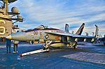 "165897 Boeing F-A-18E Super Hornet VFA-137 Kestrels Commander Air Group (CAG) Capt. J.J. Czerewko ""CAG"" (14609934633).jpg"