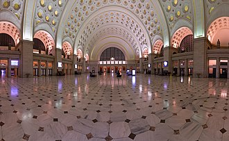 Washington Union Station - The central interior of Union Station in 2017