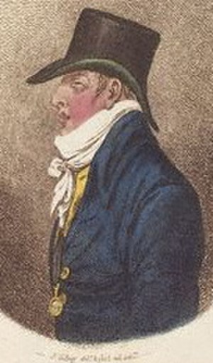 Ernest Augustus, King of Hanover - Colourised sketch of Ernest by James Gillray, 1799. Unusually, this depicts Ernest's disfigured left profile; most later portraits either show his right profile or omit the disfigurement.