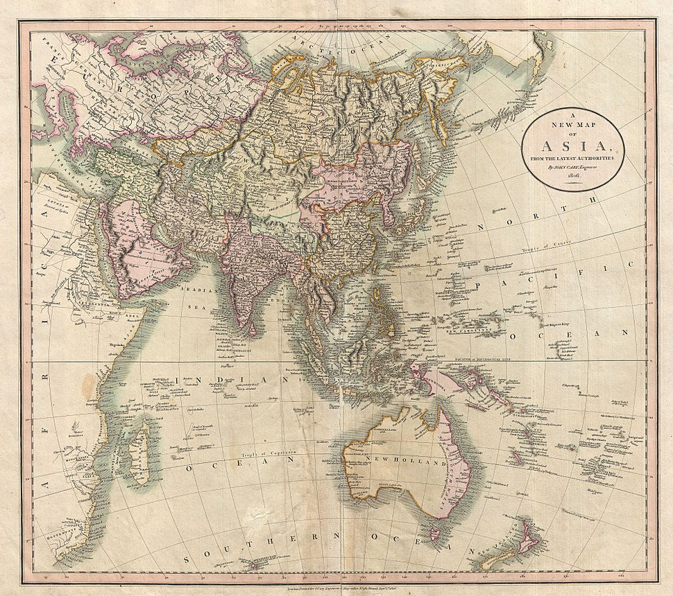 1806 Cary Map of Asia, Polynesia, and Australia - Geographicus - Asia-cary-1806