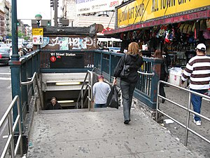 181st Street (IRT Broadway–Seventh Avenue Line) - Street stair