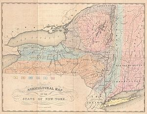 Ebenezer Emmons - 1846 Agricultural Map of the State of New-York