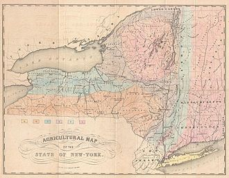 1846 Havana hurricane - Image: 1846 Emmons Agricultural Map of New York State Geographicus New York emmons 1846