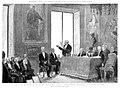 1887-06-08, La Ilustración Española y Americana, Recepción de Antonio Cánovas del Castillo como académico de número el 29 de mayo último, Comba, Carretero.jpg