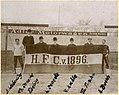 1905 H.F.C von 1896 Hannover 96 A. Weberling, Karl Toni Denecke, Fr. Ebeling, Wilhelm Denecke, R.Kahle, Theo Frahm, A. Busch Radrennbahn am Pferdeturm HAZ Historisches Museum.jpg