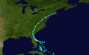 1915 Atlantic hurricane season - Image: 1915 Atlantic hurricane 1 track