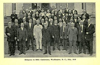 1919 Bible Conference (Adventist) - Image: 1919 Bible Conference