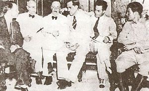Republic of Cuba (1902–1959) - The Pentarchy of 1933. Fulgencio Batista, who controlled the armed forces, appears at far right.