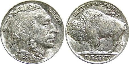 1935 Indian Head Buffalo Nickel