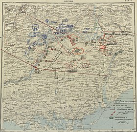 Оборона Запорожья в августе 1941 года. Оперативная карта.