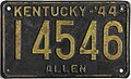 1944 Kentucky passenger license plate.jpg