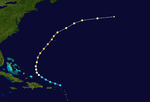 1947 Atlantic hurricane 9 track.png