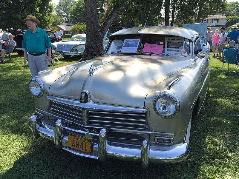 File:1949 Hudson Commodore 8 four-door with Kool Air at 2015 Macungie show 1of4.jpg