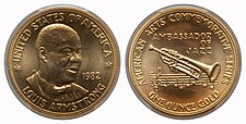 1982 Louis Armstrong One-Ounce Gold Medal.jpg