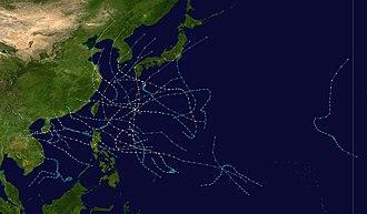 1985 Pacific typhoon season - Image: 1985 Pacific typhoon season summary