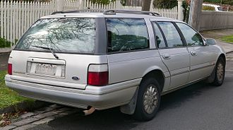 Ford Falcon (EL) - Ford Fairmont wagon. Compared to EB–EF station wagons, ELs are differentiated by white as opposed to amber rear turn signals.