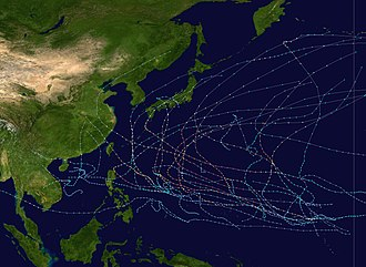 1997 Pacific typhoon season - Image: 1997 Pacific typhoon season summary