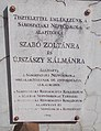1 Rákóczi Road, Zoltán Szabó - Kálmán Újszászy plaque, 2020 Sárospatak.jpg