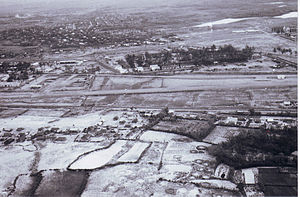 Battle of Quang Tri (1968) - ARVN 1st Regiment airfield and compound at La Vang Thuong, fall 1967, looking south