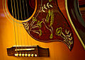 2005 Gibson Hummingbird - pickguard details with soundhole, bridge (2011-01-07 18.02.41 by John Tuggle).jpg
