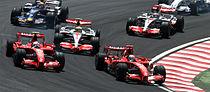2007 Brazilian GP 4 drivers at start.jpg
