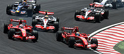 2007 Brazilian GP 4 drivers at start.jpg