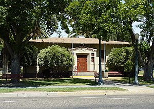 Exeter, California - The Exeter Public Library building, a Carnegie library, is on the National Register of Historic Places; it now serves as a community center.