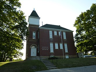 Elysian, Minnesota - The old Elysian Public School building, now owned by the Le Sueur County Historical Society, is listed on the National Register of Historic Places.