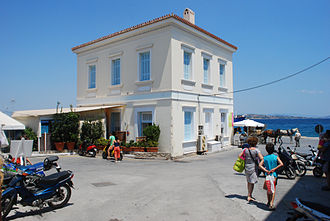 Spetses - View of the seafront.