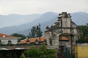 San Francisco Church (Antigua Guatemala) - Main entrance to the church property.