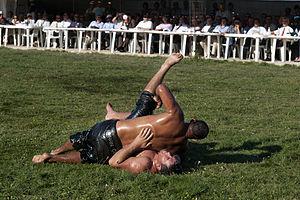 Oil wrestling - Oil wrestling in Alantepe
