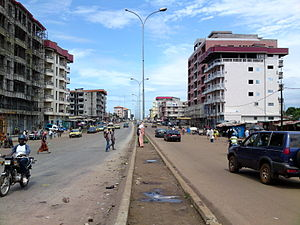 Conakry - Central Conakry in July 2013.