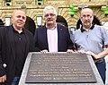 2014-08-13 Wiedererrichtung Gedenkstein altes Gewerkschaftshaus Hannover, Nikolaistraße Goseriede, Einweihung Deutscher Gewerkschaftsbund DGB, (11)a.jpg