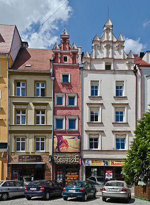 Nysa, Poland - Historical tenements