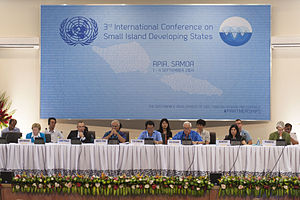 Small Island Developing States - 3rd International conference of  Small Island Developing States meeting in Samoa, September 2014.