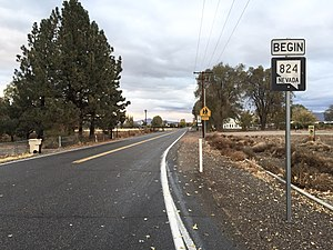 Nevada State Route 824 - View at the south end of SR 824 looking northbound