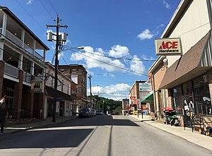 Franklin, West Virginia - Main Street in downtown Franklin