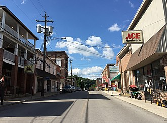 Franklin, West Virginia - Main Street in downtown Franklin